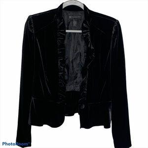 INC International Concept Velvet Ruffle Blazer M